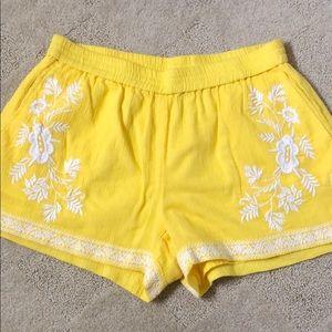 J Crew yellow shorts